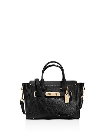 COACH - Swagger 27 Small Satchel in Pebble Leather 79ecfbd9fa