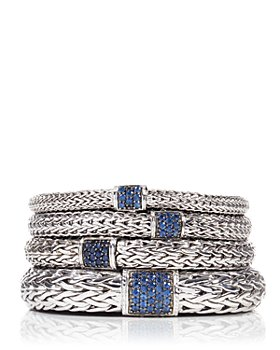 JOHN HARDY - Classic Chain Sterling Silver Lava Bracelet with Blue Sapphire