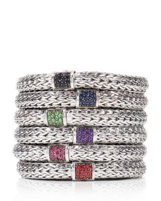Classic Chain Sterling Silver Medium Bracelet with Diamond Pavé