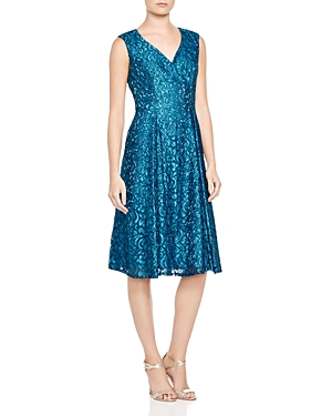 Adrianna Papell Lace Fit-and-Flare Dress