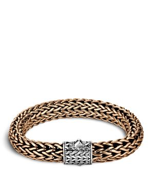 John Hardy Men's Classic Chain Silver and Bronze Large Chain Bracelet
