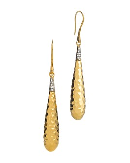 JOHN HARDY - Palu 18K Gold Diamond Pavé Drop Earrings, .15 ct. t.w.