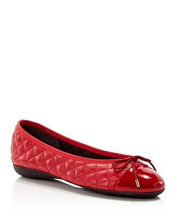 Paul Mayer - Women's Best Brighton Quilted Cap-Toe Ballet Flats