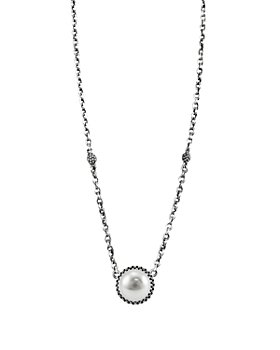 """LAGOS - LAGOS Luna Sterling Silver & Cultured Freshwater Pearl Pendant Necklace, 16"""""""