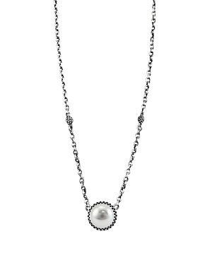 Lagos Luna Sterling Silver & Cultured Freshwater Pearl Pendant Necklace, 16