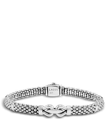LAGOS - Derby Small Buckle Sterling Silver Caviar Bracelet