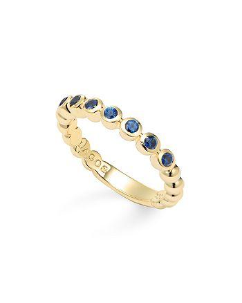 LAGOS - 18K Gold Beaded Gemstone Rings