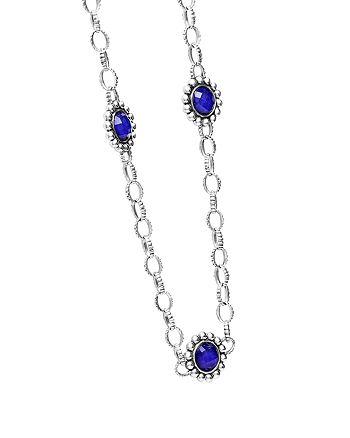 """LAGOS - Lapis Doublet Necklace, 20"""""""