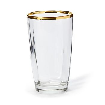 VIETRI - Optical Platinum Double Old Fashioned Glass
