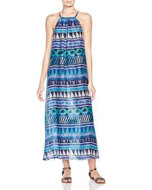 Echo Siren Island Beads Maxi Dress Swim Cover-Up