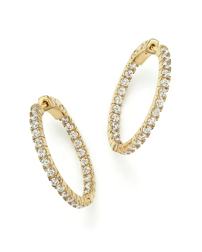 Bloomingdale's - Diamond Inside Out Hoop Earrings in 14K Yellow Gold, 1.50 ct. t.w. - 100% Exclusive