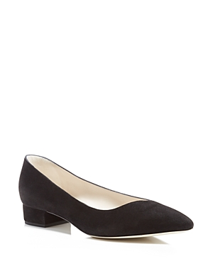 Giorgio Armani Asymmetrical Pointed Toe Low Heel Pumps