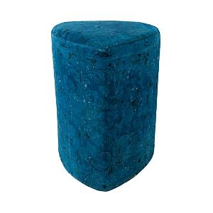 Bloomingdale's Vintage Carpet Ottoman, Bright Blue