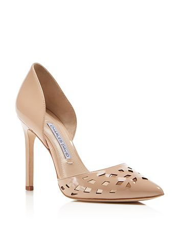 Charles David - Contessa Perforated Pointed Toe d'Orsay Pumps
