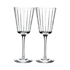 Rogaska Avenue White Wine Glass, Set of 2