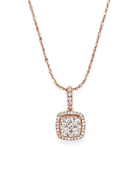Bloomingdale's - Diamond Pendant Necklace in 14K Rose Gold, .65 ct. t.w. - 100% Exclusive