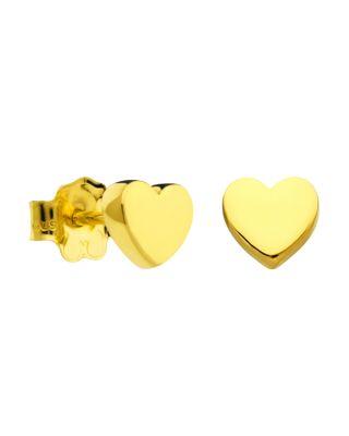 18K GOLD MINI HEART STUD EARRINGS