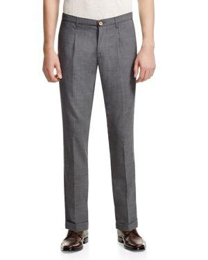 Eleventy Pleated Wool Slim Fit Pants - 100% Exclusive