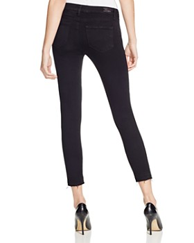 PAIGE - Verdugo Crop Jeans in Jet Black Destroyed