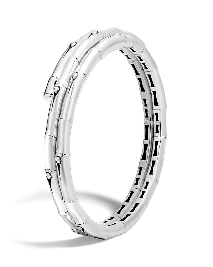 JOHN HARDY - Bamboo Sterling Silver Small Double Coil Bracelet
