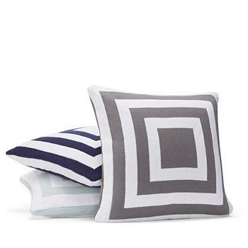 "Hudson Park Collection - Geo Knit Decorative Pillow, 20"" x 20"" - 100% Exclusive"