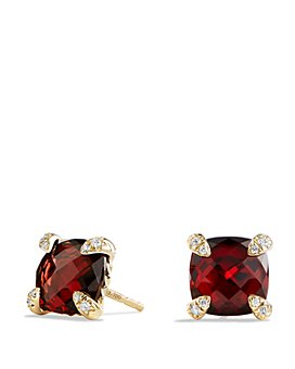 David Yurman - Châtelaine Earrings with Garnet in 18K Gold