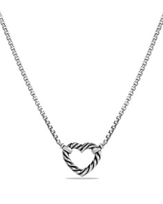 David Yurman - Cable Collectibles Heart Necklace with 18K Gold