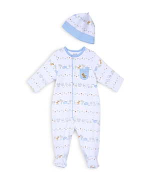Little Me Boys Safari Print Footie  Hat Set  Baby