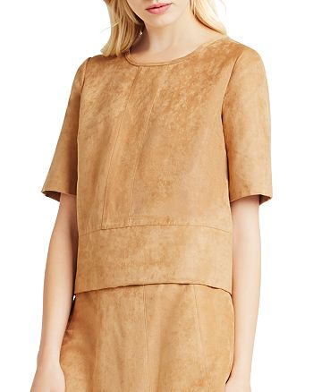 BCBGENERATION - Faux Suede Box Top