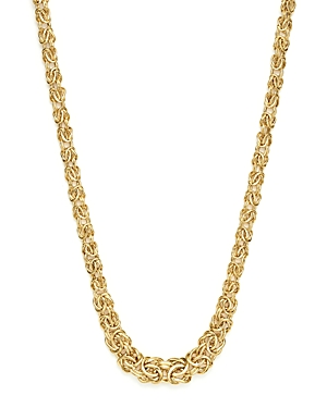14K Yellow Gold Graduated Byzantine Chain Necklace, 17 - 100% Exclusive
