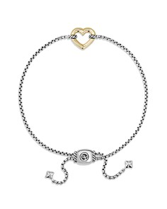 David Yurman - Cable Collectibles Heart Station Bracelet with 18K Gold