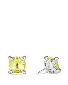 David Yurman - Châtelaine Earrings with Lemon Citrine and Diamonds
