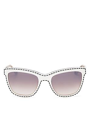 Moschino Retro Whipstitch Cat Eye Sunglasses, 55mm
