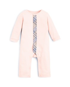 Burberry Girls' Check Trim Coverall - Baby - Bloomingdale's_0
