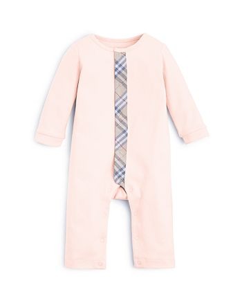 Burberry - Girls' Check Trim Coverall - Baby
