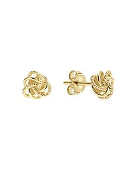 LAGOS - 18K Gold Love Knot Stud Earrings