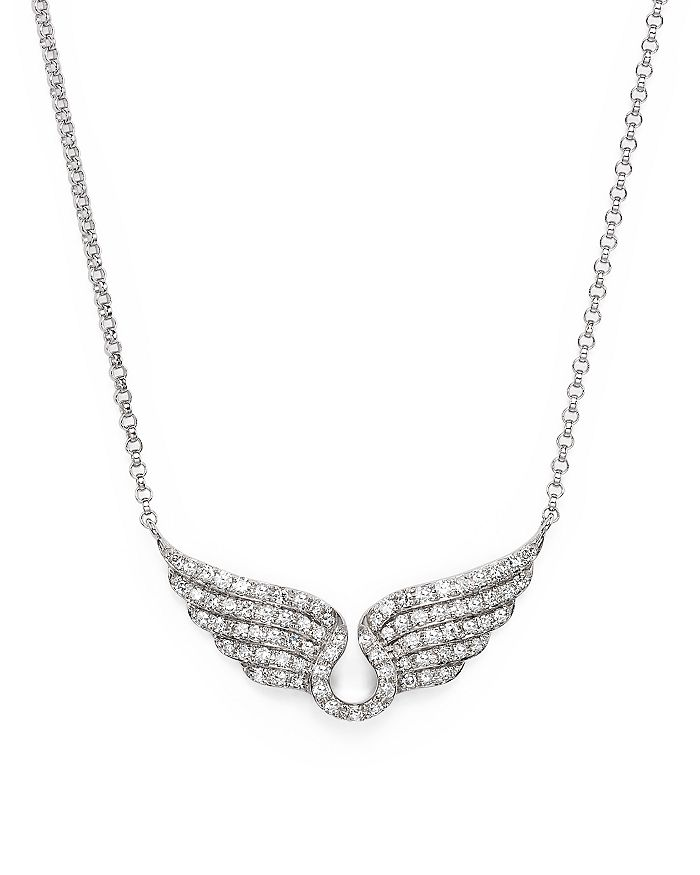Bloomingdale's - Diamond Wing Necklace in 14K White Gold, .30 ct. t.w.- 100% Exclusive