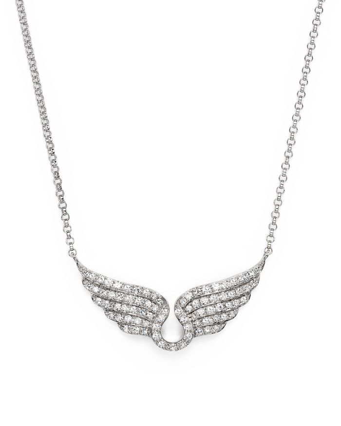 Bloomingdale's Diamond Wing Necklace in 14K White Gold, .30 ct. t.w.  | Bloomingdale's