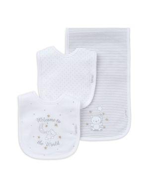 Little Me Infant Unisex Bear Bib & Burp Cloth 3-Piece Set 1628308