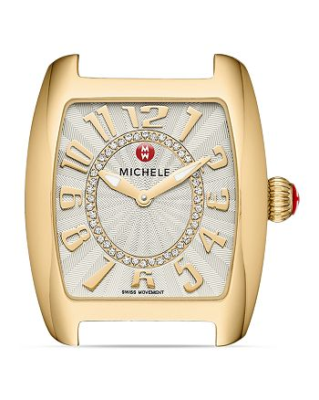 MICHELE - Urban Mini Gold Diamond Dial Watch Head, 29 x 30mm