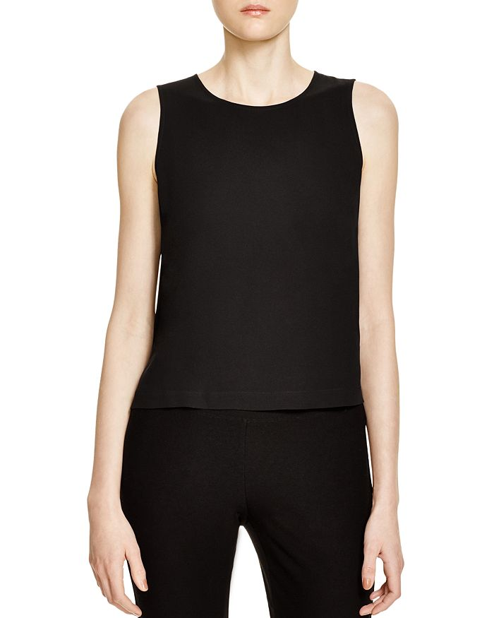 Eileen Fisher Petites - Silk Crop Top