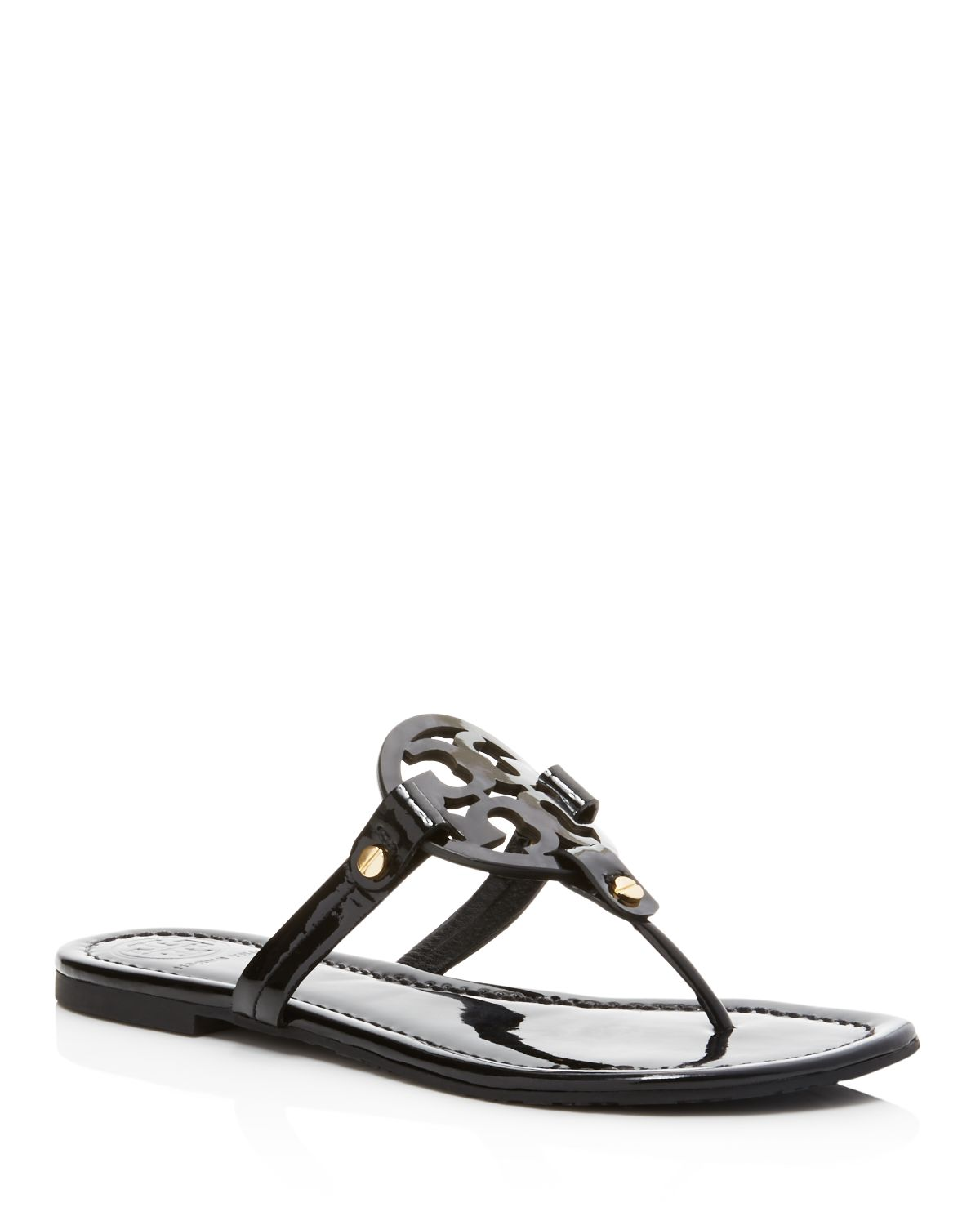 Tory Burch Woman Embellished Leather Sandals Black Size 11 Tory Burch