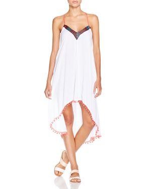 Minkpink Great White Embellished Dress Swim Cover-Up 1632743