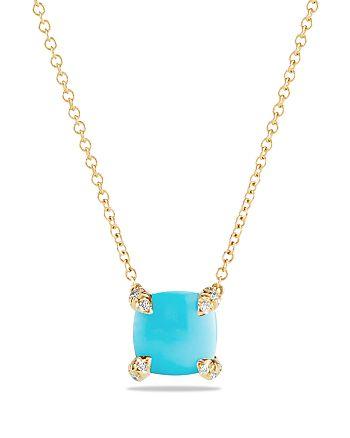 David Yurman - 18K Yellow Gold Châtelaine Pendant Necklace with Gemstones & Diamonds