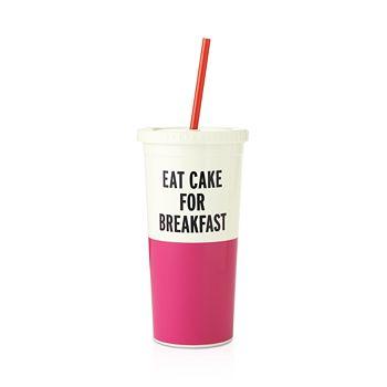 kate spade new york - Eat Cake For Breakfast Insulated Tumbler