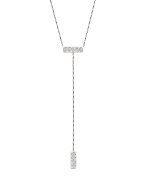 Click here for Meira T 14K White Gold Diamond Rectangles Lariat N... prices