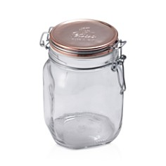 Bormioli Rocco Fido Square Copper Metallic Lid Jar, 33.75 oz. - Bloomingdale's_0