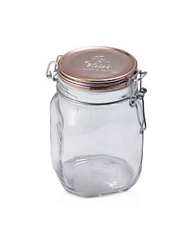Bormioli Rocco - Fido Square Copper Metallic Lid Jar, 33.75 oz.