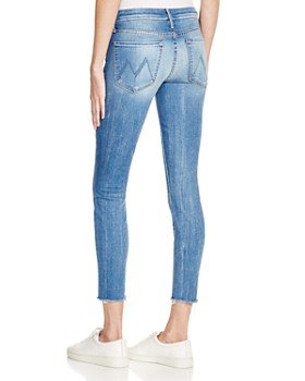 MOTHER - The Looker Ankle Fray Jeans in Birds of Paradise