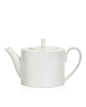 Domenico Vacca by Prouna - Alligator White Teapot